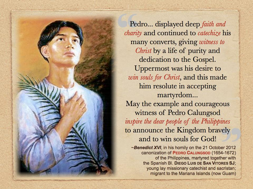 article concerning this everyday living involving pedro calungsod